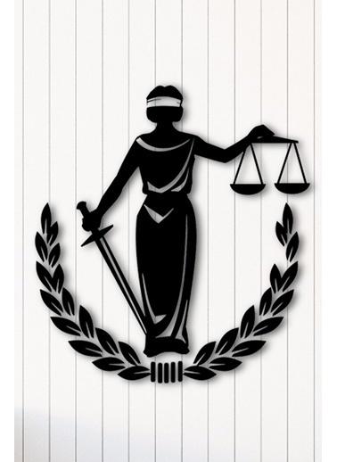 Angemiel Adalet Metal Duvar Tablosu Siyah